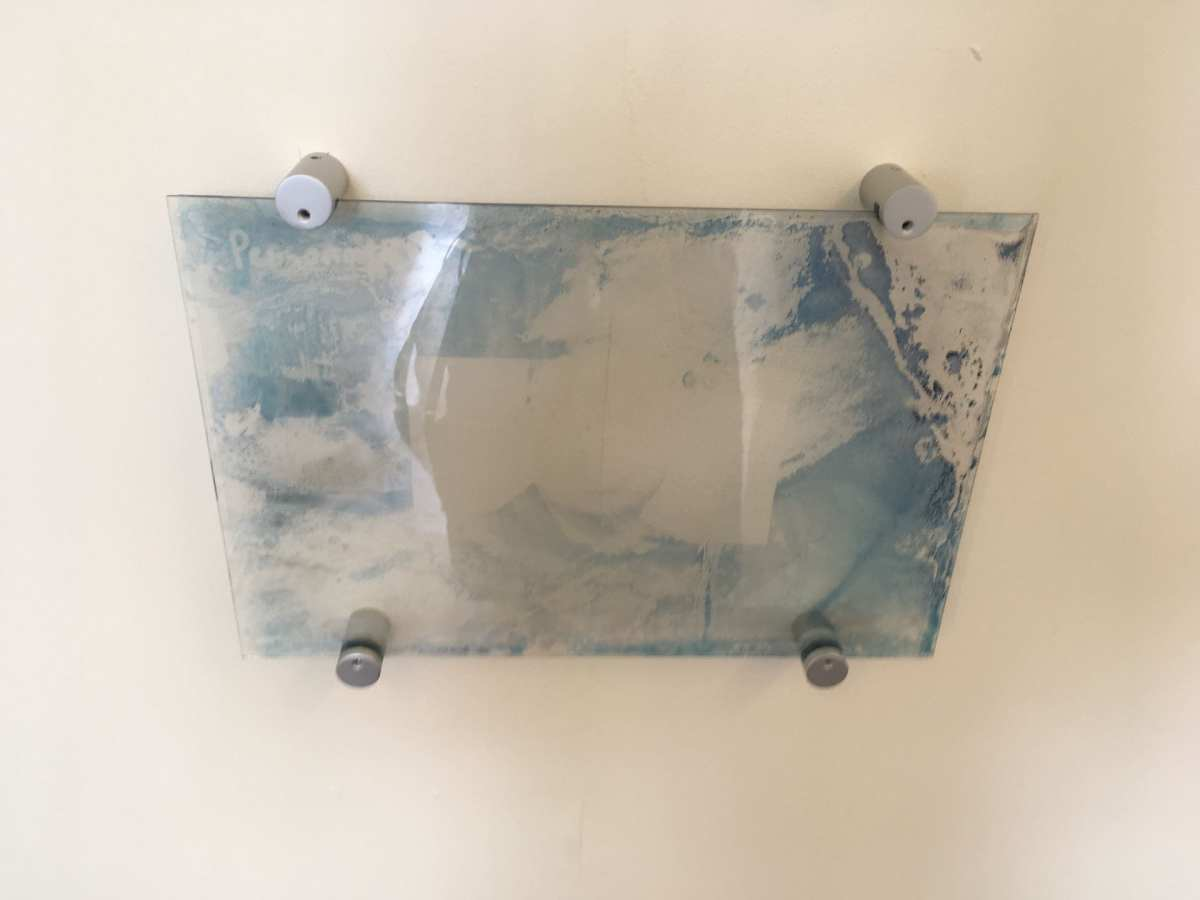 Personal first attempt of cyanotype on glass