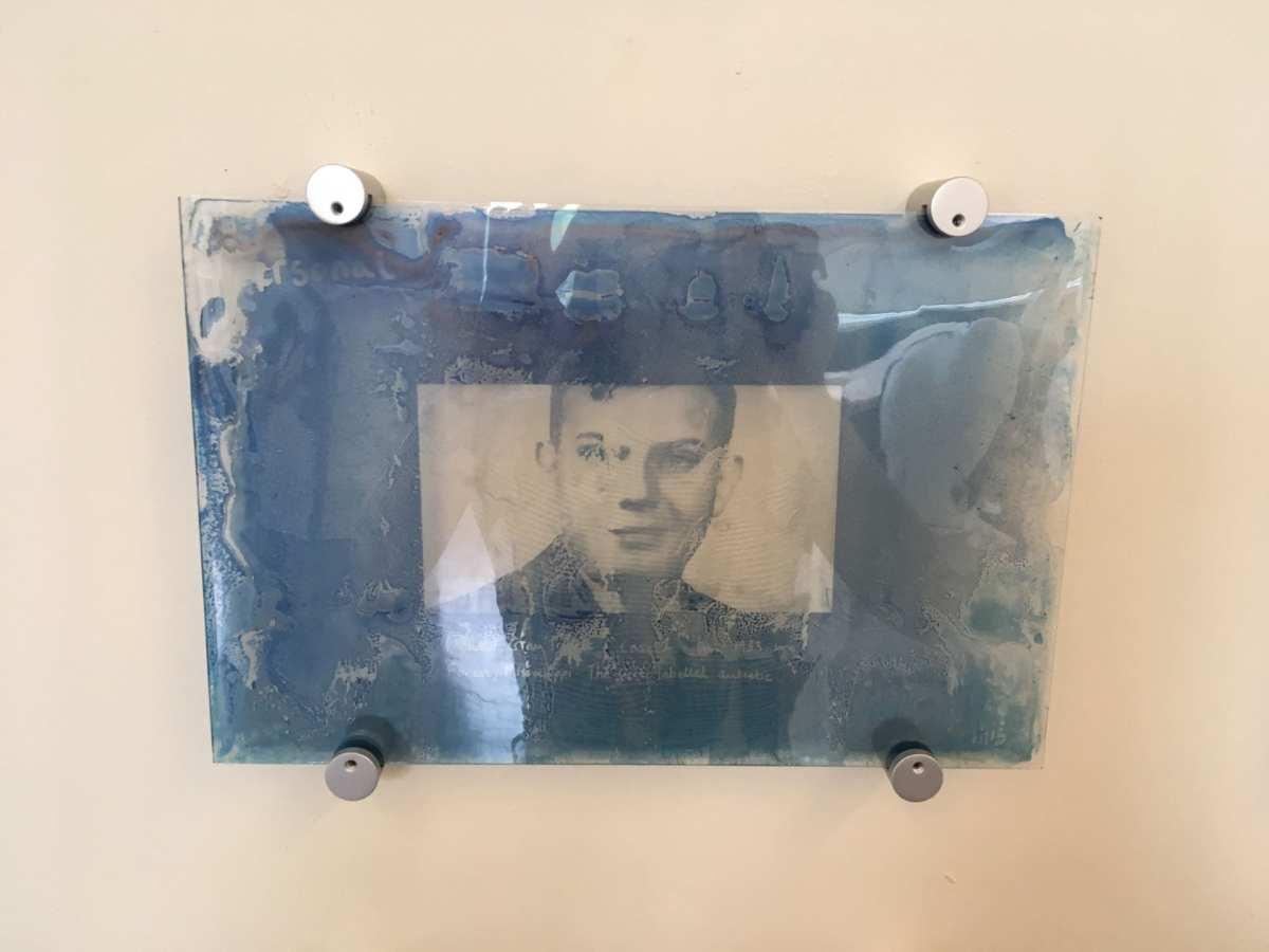 Personal cyanotype on glass