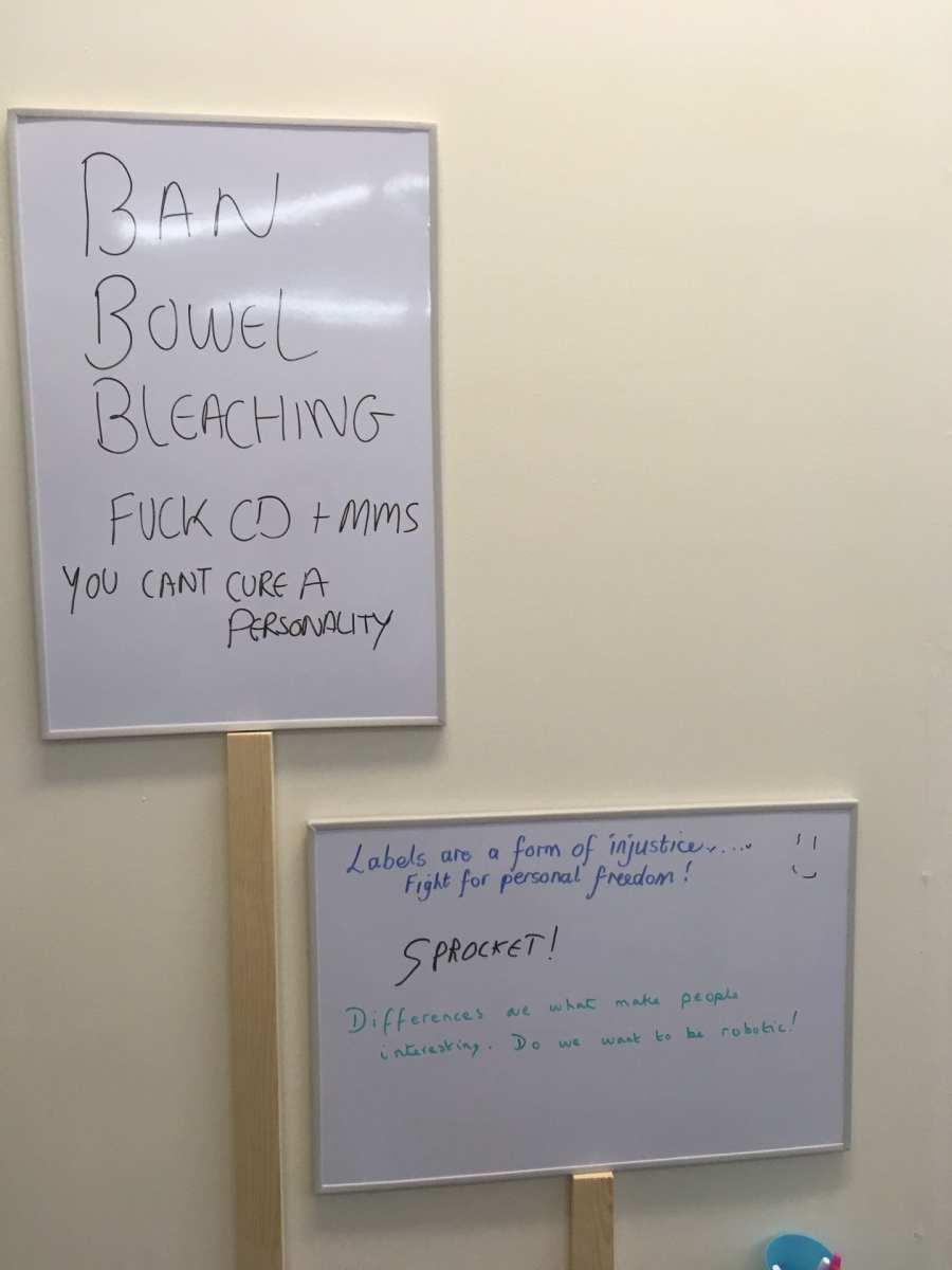 Accessible Protesting whiteboard protest signs