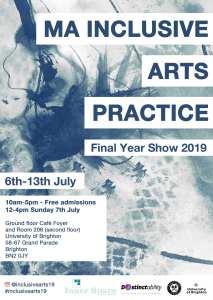 Inclusive Arts Practice MA poster